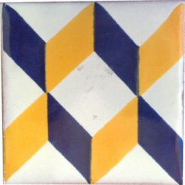 Acordeon Azul Amarillo Tile