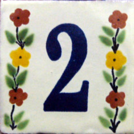 Numbers Bouquet Tile