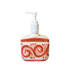 Soap Dispenser with hand painted elements