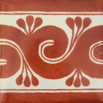 greca terra cota border single border tile