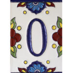 numbers cereza traditional tile