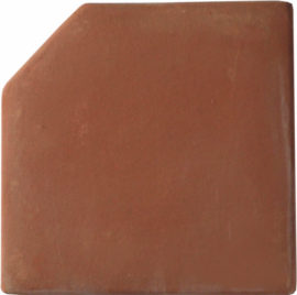 12x`12 Cut Edge Handcrafted Lincoln Red Terra Cotta Tile