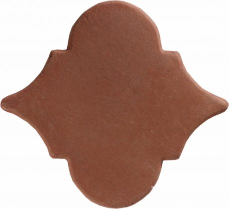 8 inch Arabesque Picket Handcrafted Lincoln Red Terra Cotta