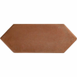 8 inch Picket Handcrafted Lincoln Red Terra Cotta Floor Tile