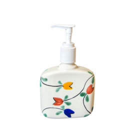 Soap Dispenser with colorful tulips