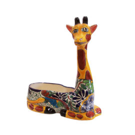 Colorful Decorative Giraffe Pot